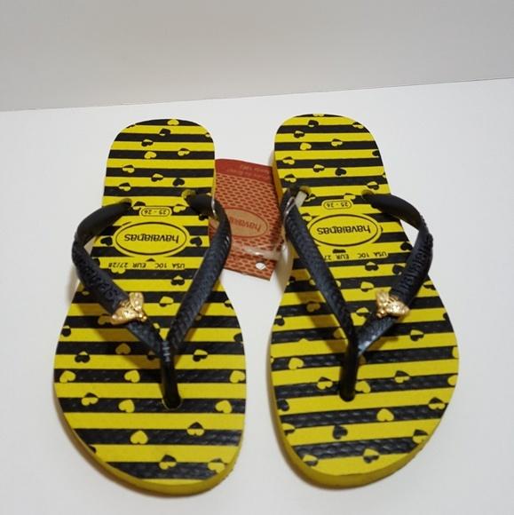 f7f773742948 Havaianas Citrus Yellow Flip Flops Size 10c